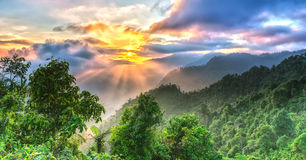 Sunrise on Yen Bai Heaven Gate Royalty Free Stock Photo