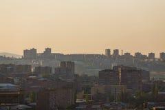 Yerevan. Sunrise in Yerevan City, Kanaker district Stock Image