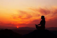 Sunrise Yoga Royalty Free Stock Photography