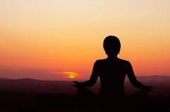 Sunrise Yoga Royalty Free Stock Photo