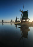 Sunrise at the Zaanse Schans Royalty Free Stock Image