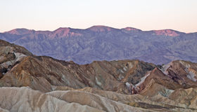 Sunrise at zabriskie point Royalty Free Stock Photo