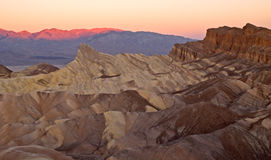 Sunrise at zabriskie point Stock Photography