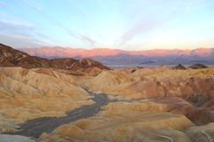 Sunrise in Zabriskie Point Stock Photo