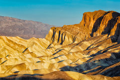 Sunrise at Zabriskie Point Royalty Free Stock Photos