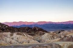 Sunrise at Zabriskie Point, Death Valley National Park, USA Stock Photos