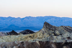 Sunrise at Zabriskie Point, Death Valley National Park, USA Royalty Free Stock Image
