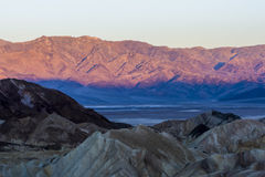 Sunrise at Zabriskie Point, Death Valley National Park, USA Stock Image