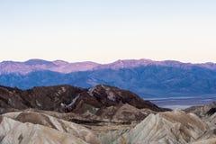 Sunrise at Zabriskie Point, Death Valley National Park, USA Stock Images