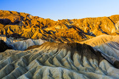 Sunrise at Zabriskie Point, Death Valley National Park, USA Stock Photo