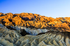 Sunrise at Zabriskie Point, Death Valley National Park, USA Royalty Free Stock Photography