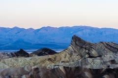 Sunrise at Zabriskie Point, Death Valley National Park, USA Royalty Free Stock Photos