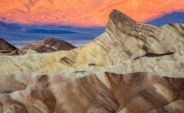 Sunrise at Zabriskie Point Stock Photos