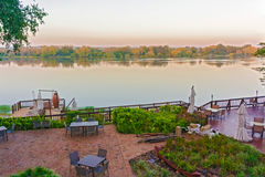 Sunrise on Zambezi river in Zambia Royalty Free Stock Images