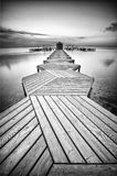 Sunrise in a Zig Zag dock Royalty Free Stock Images