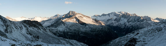 Sunrise in the Zillertal Alps Stock Photos