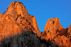 Sunrise in Zion mountain Royalty Free Stock Photo