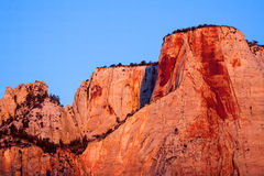 Sunrise in the Zion Mountains Stock Photo
