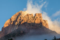 Sunrise at Zion National Park Stock Images