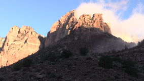 Sunrise at Zion National Park stock video