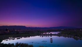 Sunrise of zuoqi city Stock Photography