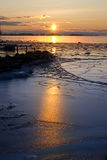 冰sunrised 库存照片