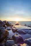 SunriseLake przełożony Fotografia Stock