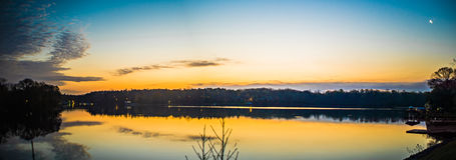 Sunriseon jeziorny wylie blisko Belmont NC Obraz Stock
