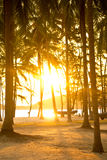 Sunrises at the beach. In Thailand Royalty Free Stock Photo