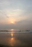 Sunrises on beach Royalty Free Stock Image