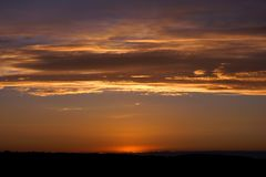 Sunrises en sunsets Royalty-vrije Stock Foto