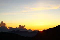 Sunrises at Hehuanshan - Taiwan Royalty Free Stock Photos