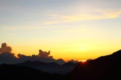 Sunrises in Hehuanshan - Taiwan royalty-vrije stock foto's