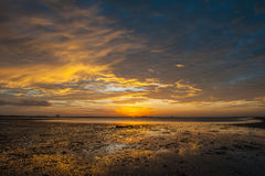 Sunrises in the morning sky, clouds and beautiful Royalty Free Stock Photo