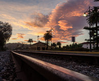 Sunriset Train Station Santa Barbara California Royalty Free Stock Photos