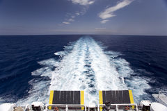 Sunrising on ferry Stock Photography