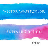 Sunrising watercolor banners Stock Image