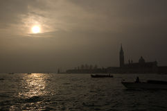 Sunrize i Venedig Royaltyfria Foton