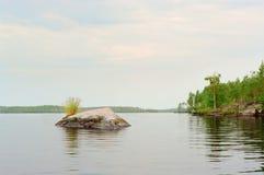 Sunrize on northen lake Royalty Free Stock Photos