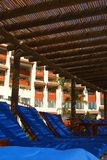 Sunroof. Chairs under a sunroof in a hotel in Puerto Vallarta, Jalisco, Mexico, Latin America Stock Photography