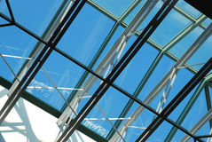 Sunroof of the shopping mall Stock Images