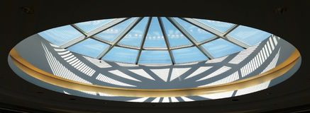 Sunroof, Oval, window, Sunlight and Sky Stock Photography