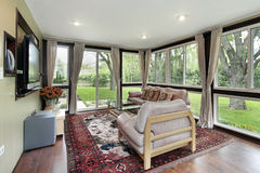 Sunroom με την εξωτερική όψη Στοκ εικόνες με δικαίωμα ελεύθερης χρήσης