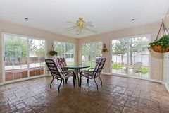 Sunroom. In a house - furnished home royalty free stock photo
