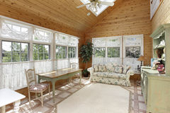 Sunroom with skylight. Sunroom in luxury home with skylight royalty free stock photo