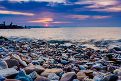 Sunrset At Koh Larn @Thailand. Scenery Koh Larn In Thailand Royalty Free Stock Photography