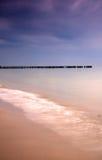 Sunrsie excepcional en la costa polaca. Fotos de archivo libres de regalías