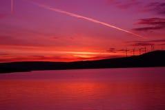 Sunrsie på Columbiaet River Arkivfoton