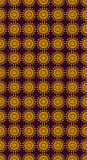 Suns. Seamless pattern of golden suns on red background Stock Illustration