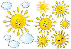 Suns and Clouds royalty free illustration